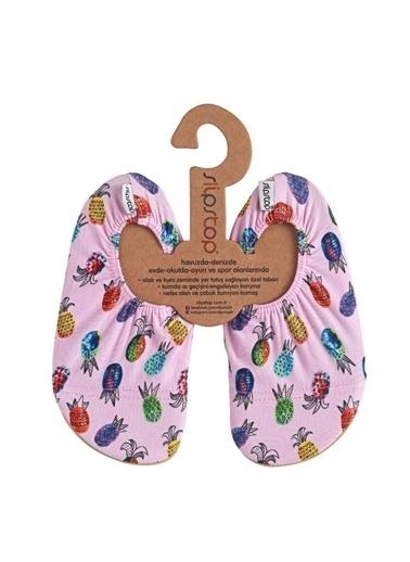 Slipstop 18110232-R Pineapple Çocuk Havuz Ve Deniz Ayakkabısı Pembe Renkli